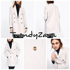 NEW ZARA SS19 DOUBLE-BREASTED SAND COAT 2013/981 SIZE XS ABRIGO CRUZADO CRUDO