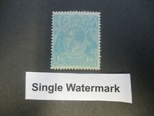 KGV Stamps: 1'4 Single Watermark Variety Mint  -  RARE   -  (n348)