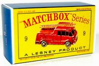 Matchbox Lesney No 9 MERRYWEATHER FIRE ENGINE Repro Empty Box style D Box