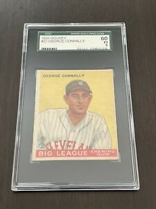 1933 Goudey #27 George Connally Cleveland Indians SGC 60 EX 5