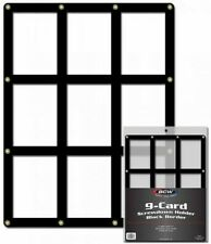 BCW 9-Card Black Border Screwdown Trading Card Holder - Qty. 1