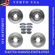 Front & Rear Brake Rotors & Pads For Kia Spectra 2004-2009 , Spectra5  2005-2009