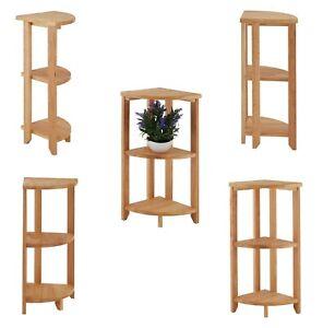 3 Tier Wood Wooden Corner Shelf Book Telephone Plant Pot Table Rack Unit Stand