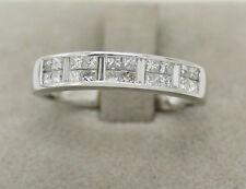 Princess Band White Gold VS1 Fine Diamond Rings