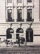 """FAIRFILD DAIRY WAGON & BUILDING FAIRFIELD NJ POSTCARD 1900s 3 1/2"""" by 5 1/2""""#975"""