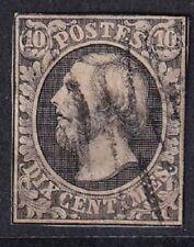 Luxemburg - 1852 Wilhelm III - 10c Black Imperf Stamp - Used