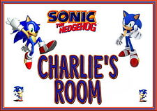 PERSONALISED SONIC ROOM DOOR SIGN, XMAS GIFT!