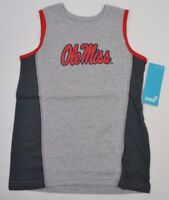 NCAA OLE MISS REBELS Boys 4-7 Gray Fan Gear Tank Top T-Shirt M (5-6)