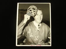 1963 Jacques Plante New York Rangers Original Wire Photograph