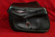 SUZUKI BOULEVARD DELUXE RIGID MOUNT LEATHER SADDLEBAGS