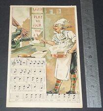 Chromo chocolat de royat 1910-1914 popular song rhyme mother michel 3