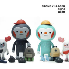 Stone Villager BAO & MOY Doing x MIRO figure A & B MINT & GREY Jeju resin toy