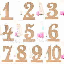 170mm Free Standing MDF Un Painted Wooden Wedding Table Numbers Set 1-10