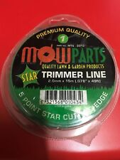 Trimmer line 2mm x 15m star shape 10 rolls BRAND NEW