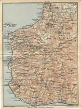Carta geografica antica REGGIO CALABRIA e dintorni  TCI 1928 Old Antique map