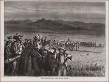 Black Hills, SOUTH DAKOTA, GOLD MINERS, antique engraving, print, original 1875