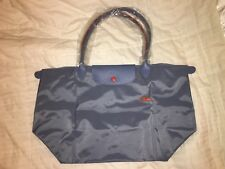 LONGCHAMP Bag LE CLUB PLIAGE Limited Ed BLUE MIST Large Long Handle PARIS