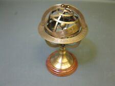 Messing Armillaryspere Globus nautisches Gerät  22 cm Armillarsphäre