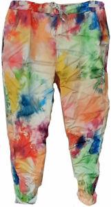 Big SIZE batik STRETCH Hose Made in Italy Gr. 46-52 Damen Sommerhose Jogpant NEU