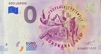 BILLET 0  EURO ZOO LEIPZIG  ALLEMAGNE 2018  NUMERO 1000