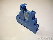 New Finder 95.95.3 DIN Rail Relay Socket & 99.80.9.024.99 Diode Module
