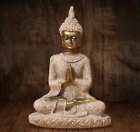 Sandstone Buddha Small Altar Travel Shrine Statue Figure Buddhism Buddhist Yoga