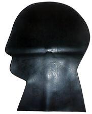 Black  Latex Rubber Fancy Dress Mask Large Plain (Creased)  2nd BIN