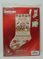 Rare 2004 New Janlynn Nativity Scene Christmas Stocking Counted Cross Stitch Kit
