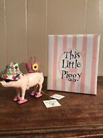 This Little Piggy Baked Ham Resin Pig in Bikini Figurine Westland Giftware 2007