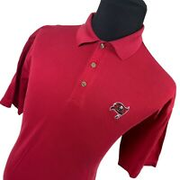 Byron Nelson Red Tampa Bay Buccaneers Short Sleeve Football Polo Shirt Mens L