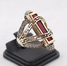 TURKISH HANDMADE RUBY STERLING SILVER 925K RING SIZE 8