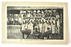 Antique postcard Santhal Women Dancing The Gowarree India Nestor Gianaclis 473