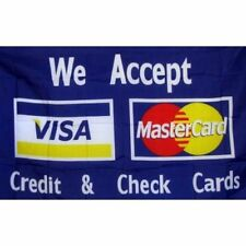 3'x5' We Accept Credit Cards Flag Visa Mastercard Banner Outdoor Sign Store 3X5