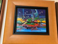 Original Wichie Torres Canvas Painting Puerto Rico Art
