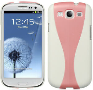 WHITE PINK SKINNY CHAMPAGNE GLASS CASE COVER FOR SAMSUNG GALAXY-S 3 III PHONE