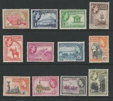 GOLD COAST ELIZABETH II 1952 DEFINITIVE SET MNH