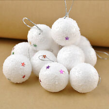 Nuevas bolas de nieve falsas 6pcs para las decoraciones de Navidad o tirar y VP