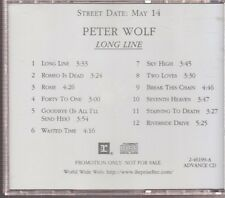 Peter wolf long line cd promo
