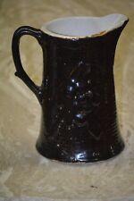 "Antique Rockingham Stoneware Captain or Pirate Relief Brown 8 1/4"" tall c1850"