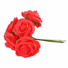 10~100 Heads Foam Roses Artificial Flower Colourfast Wedding Bride Bouquet Party