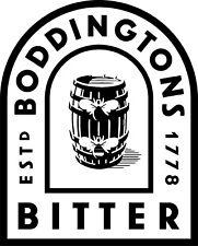 MEDIUM BODDINGTONS IMAGE VINYL STICKER, DECOR, FOR WALL, GARDEN BAR, MAN CAVE