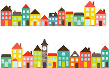 Town Houses Cake Topper A4 Edible Printed Iced Sheet