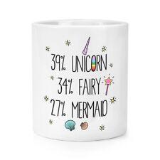 39% Unicorn 34% Fairy 27% Mermaid Makeup Brush Pencil Pot - Funny