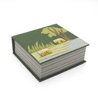 Fair Trade Eco Maximus Elephant Dung Paper Note Cube Jotter Block - Green