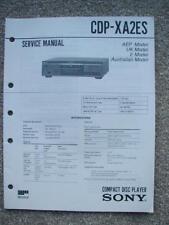 Original Sony CDP-XA2ES Manual De Servicio