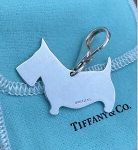 Rare Authentic Tiffany & Co Sterling Silver Scottie Terrier Dog puppy Charm 925