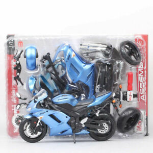 Maisto Diy Assemble 1:12 Scale Kawasaki Ninja Zx-6r Motorcycle Model Bike Toys