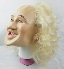 Vintage Rubber Mask Adult Costume 1989 Hand Sewn Hair