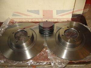 Pair of New MGB Brake Rotors and Brake Pads 1963-1980