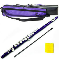 Metallic Purple Flute w Silver Keys 2017 New Model Case Bag Accessories